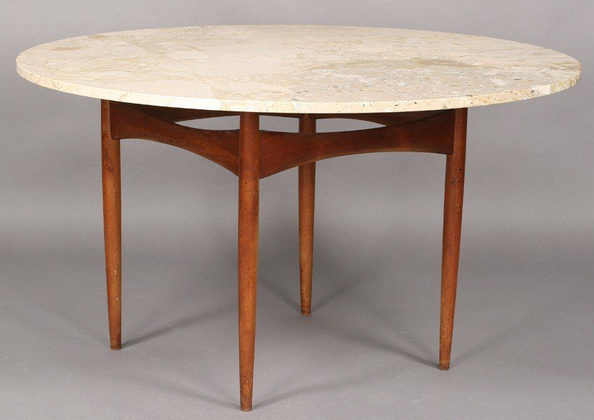 PHIL POWELL DINING TABLE MARBLE TOP