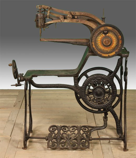 19TH CENT. CAST IRON SEWING MACHINE LABELED - 2