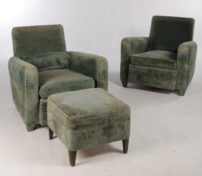 PR JEAN MICHEL FRANK STYLE UPHOLSTERED CHAIRS
