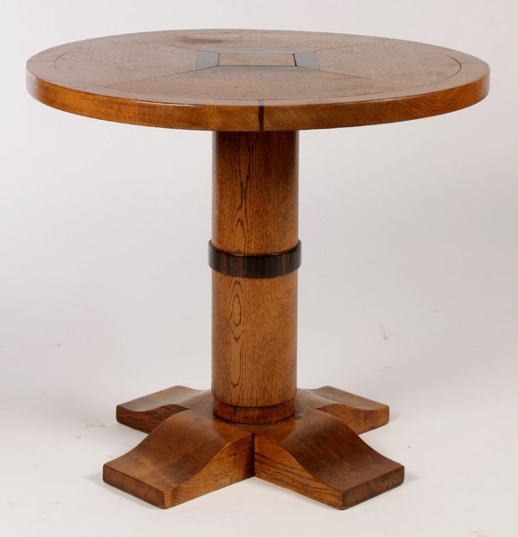 FRENCH CHARLES MOREUX STYLE OAK OCCASIONAL TABLE