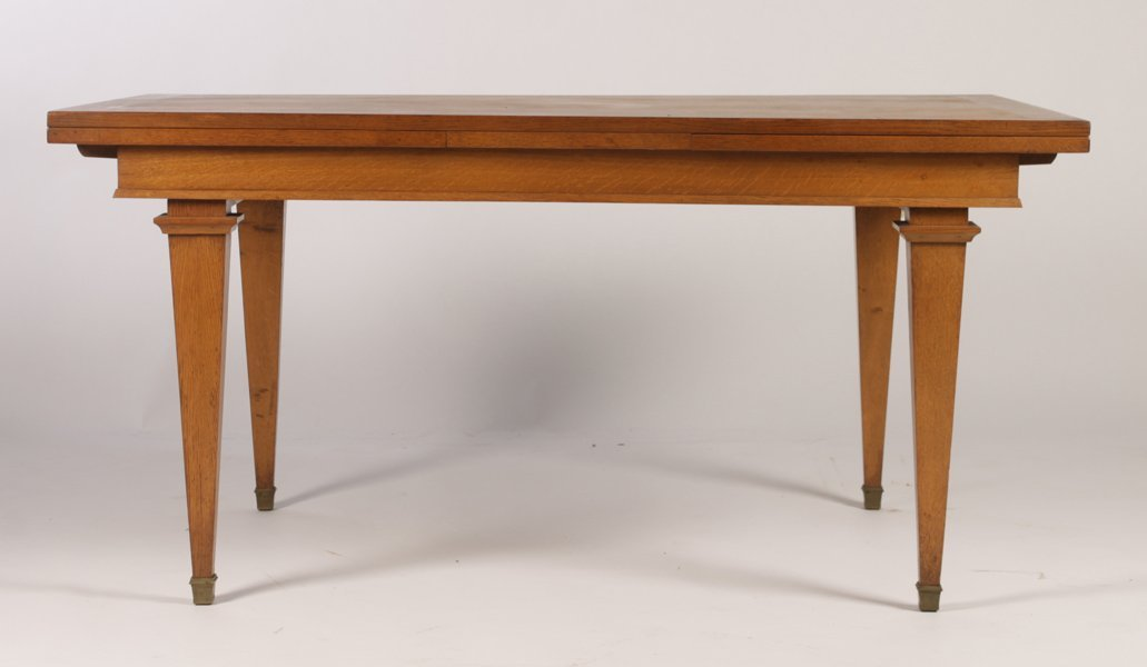 FRENCH ARBUS STYLE OAK DINING TABLE 2 LEAVES