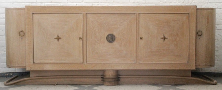 FRENCH OAK SIDEBOARD LABELED LOUIS PHILIPPE