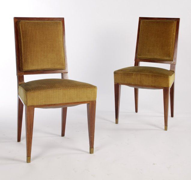 JEAN MICHEL FRANK STYLE SIDE CHAIRS UPHOLSTERED