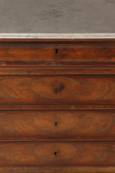 LOUIS PHILIPPE MAHOGANY COMMODE 5 DRAWERS - 6