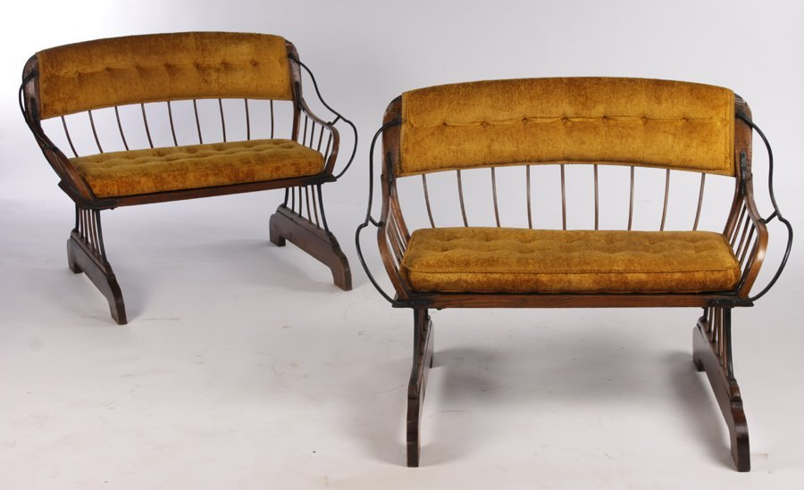 PR ANTIQUE HORSE CARRIAGE BENCHES