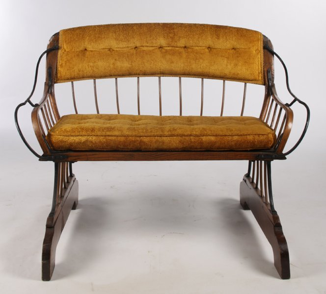 PR ANTIQUE HORSE CARRIAGE BENCHES - 2