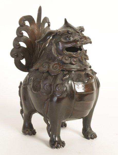 ASIAN BRONZE FOO DOG KORO OR SENSOR CIRCA 1900