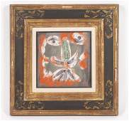 PABLO PICASSO PAINTED & GLAZED EARTHENWARE PLATE