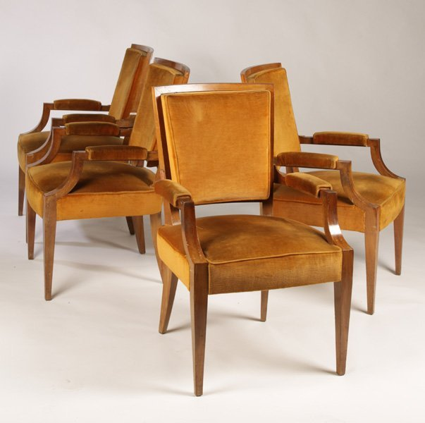 SET OF 4 FRENCH ARBUS STYLE ARMCHAIRS CIRCA 1940
