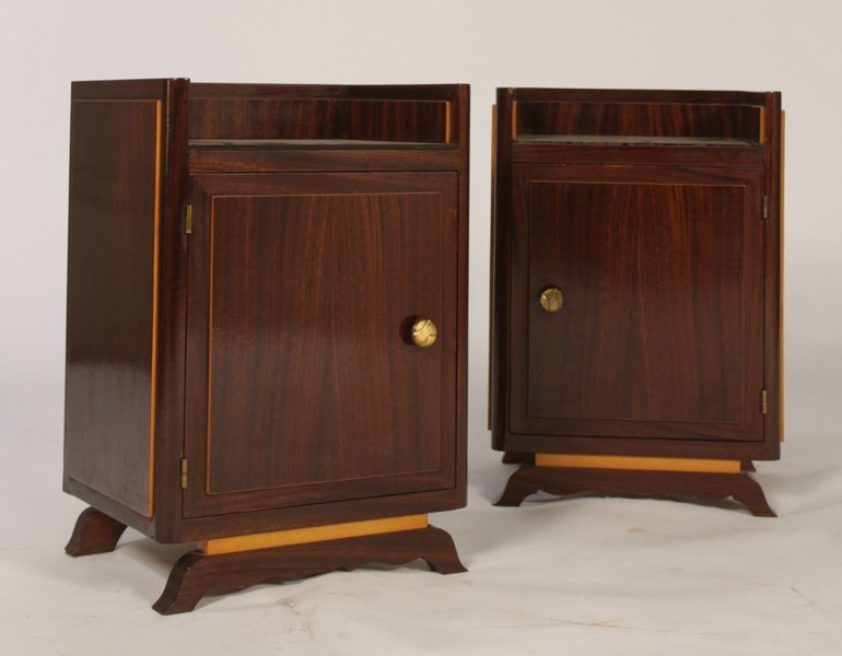 STYLISH PAIR OF FRENCH END TABLES CIRCA 1940