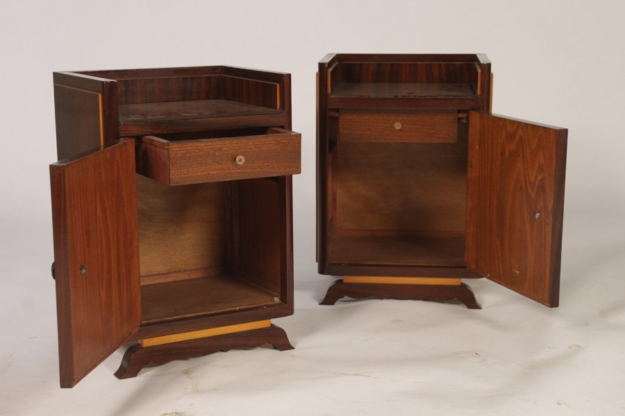 STYLISH PAIR OF FRENCH END TABLES CIRCA 1940 - 2