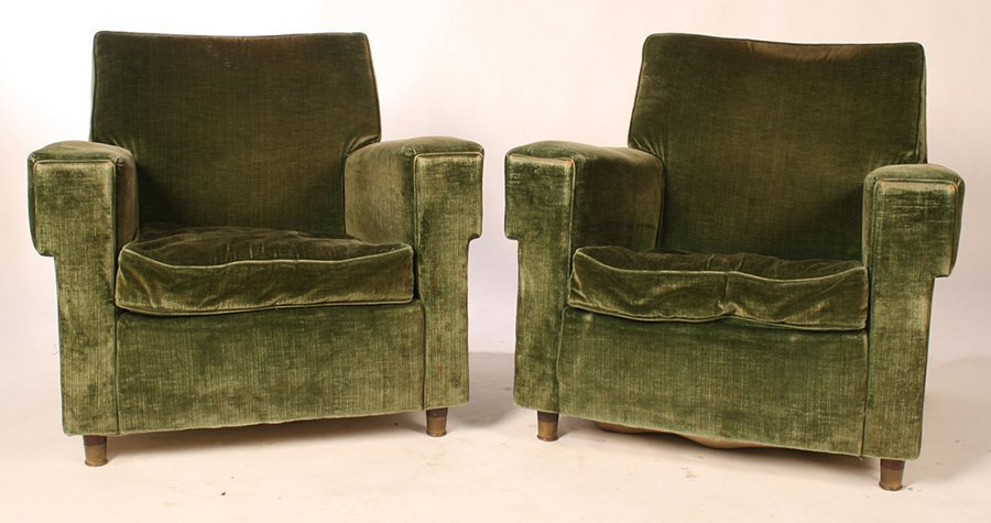 PAIR OF JEAN MICHELLE FRANK STYLE CLUB CHAIRS