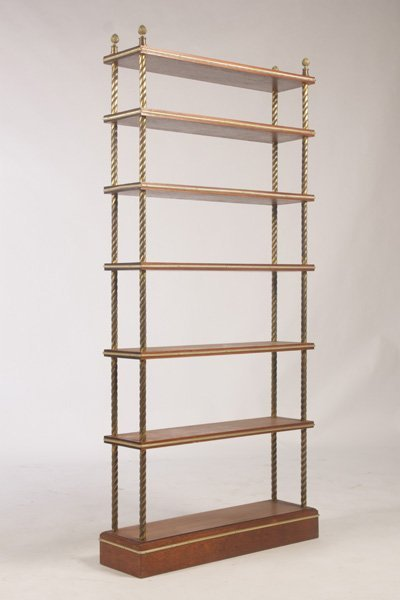 FRENCH ETEGERE WITH 7 BRONZE TRIMMED OPEN SHELVES