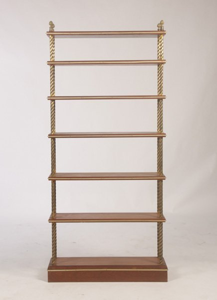 FRENCH ETEGERE WITH 7 BRONZE TRIMMED OPEN SHELVES - 2
