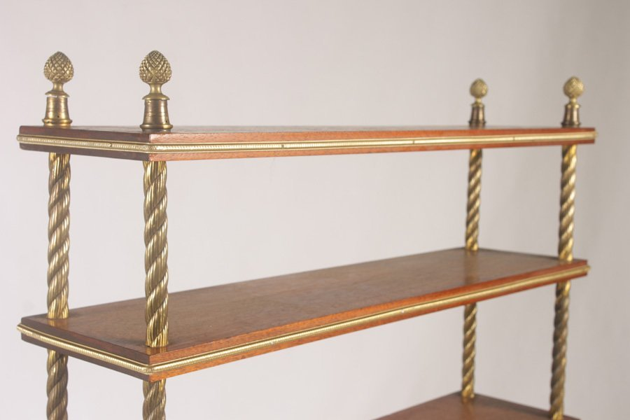 FRENCH ETEGERE WITH 7 BRONZE TRIMMED OPEN SHELVES - 3
