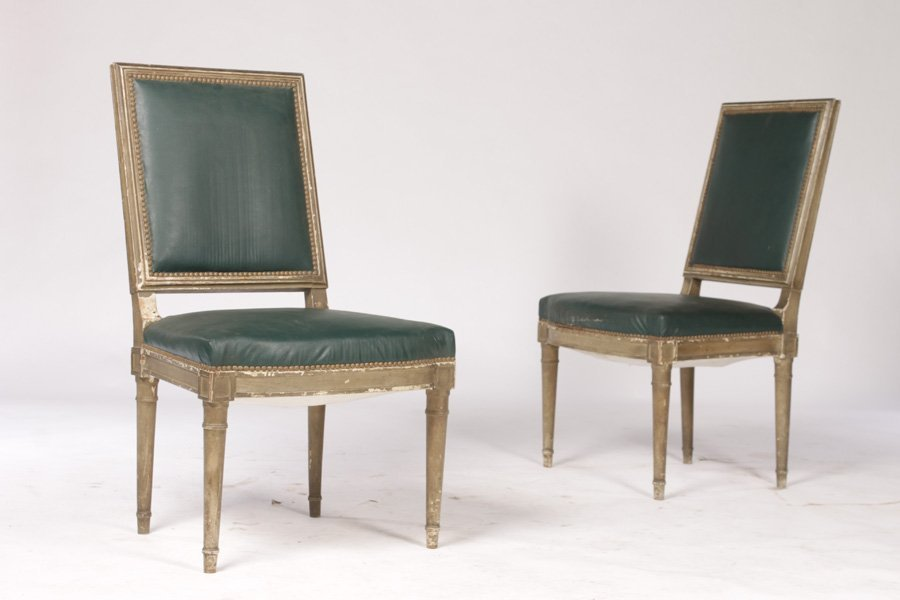 PAIR SIDE CHAIRS IN MANNER OF ANDREA ARBUS C.1950