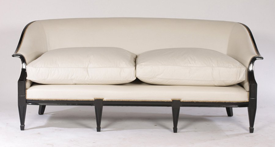 EBONIZED FRENCH SOFA IN THE ANDREA ARBUS MANNER