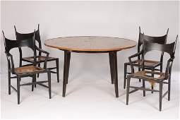 EDWARD WORMLEY DUNBAR DINING TABLE & FOUR CHAIRS