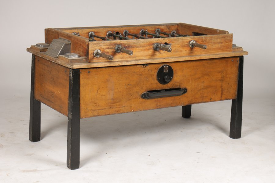 VINTAGE FOOSBALL TABLE CIRCA 1950