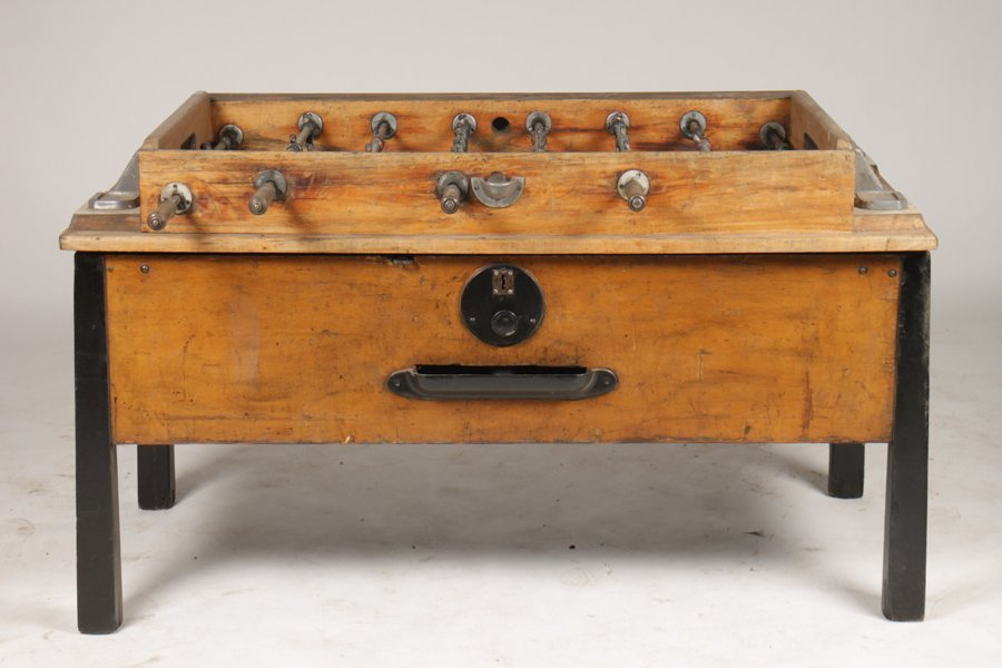 VINTAGE FOOSBALL TABLE CIRCA 1950 - 2