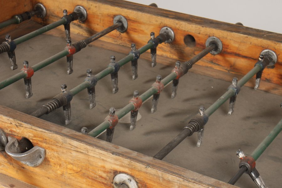 VINTAGE FOOSBALL TABLE CIRCA 1950 - 3