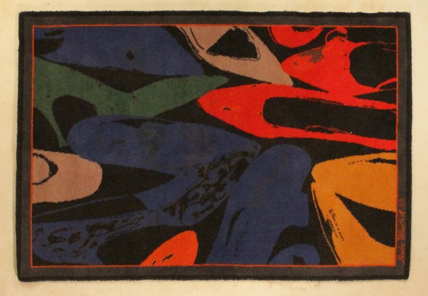 ANDY WARHOL DIAMOND DUST SHOES DESIGNED RUG