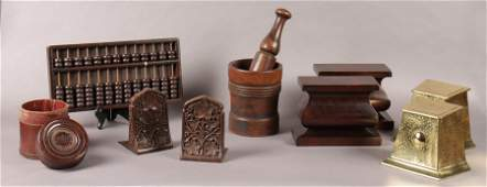 10 PC LOT GENTLEMANS OFFICE LOT ABACUS BOOKENDS
