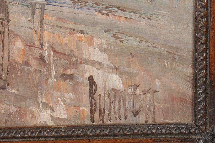 CAROLINE C. BURNETT FRENCH SIGNED OIL ON CANVAS - 4