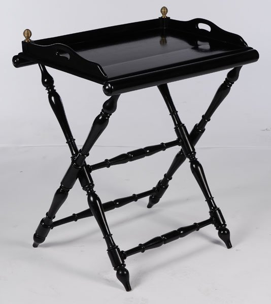 EBONIZED BAR TABLE REMOVEABLE TRAY C 1950