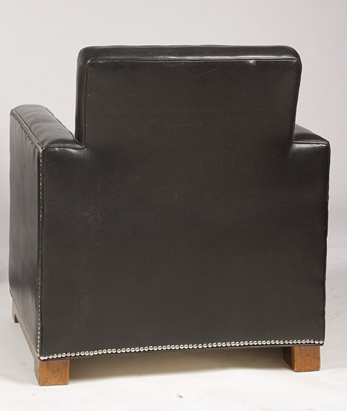 PR LEATHER ART DECO LOUNGE CHAIRS UPHOLSTERED - 5