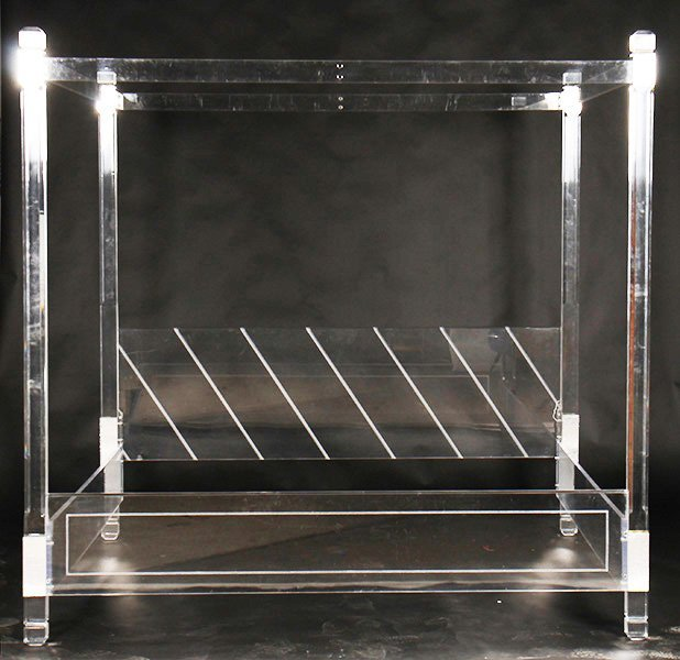 century modern hollis jones style lucite bed