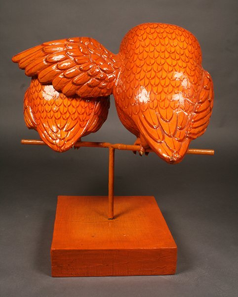 WHIMISICAL SIGNED BUSTAMANTE PAPIER MACHE OWL - 4
