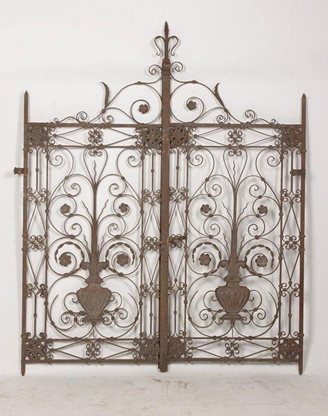 PR OF WROUGHT IRON GATES C. 1920