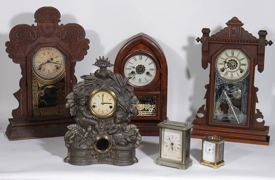 6 CLOCKS WELCH BEEHIVE CAST IRON AMERICAN 1890