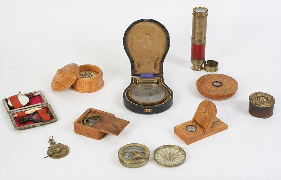 LOT OF 8 EARLY SCIENTIFIC INSTRUMENTS C.1800