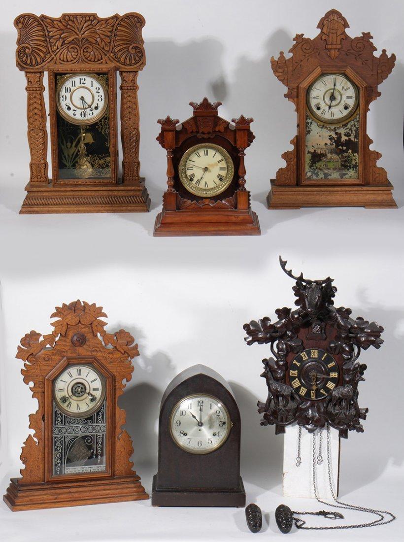 6 CLOCKS BLACK FOREST CUCKOO SETH THOMAS 1900