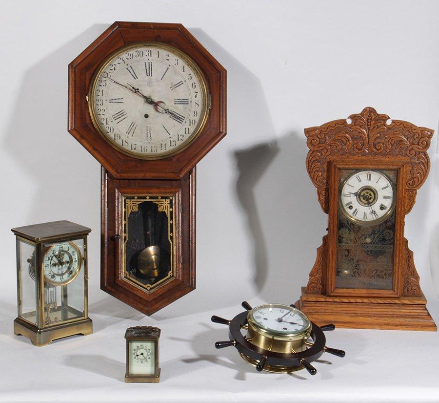 6 CLOCKS WATERBURY FRENCH DROP CARRIAGE 1890
