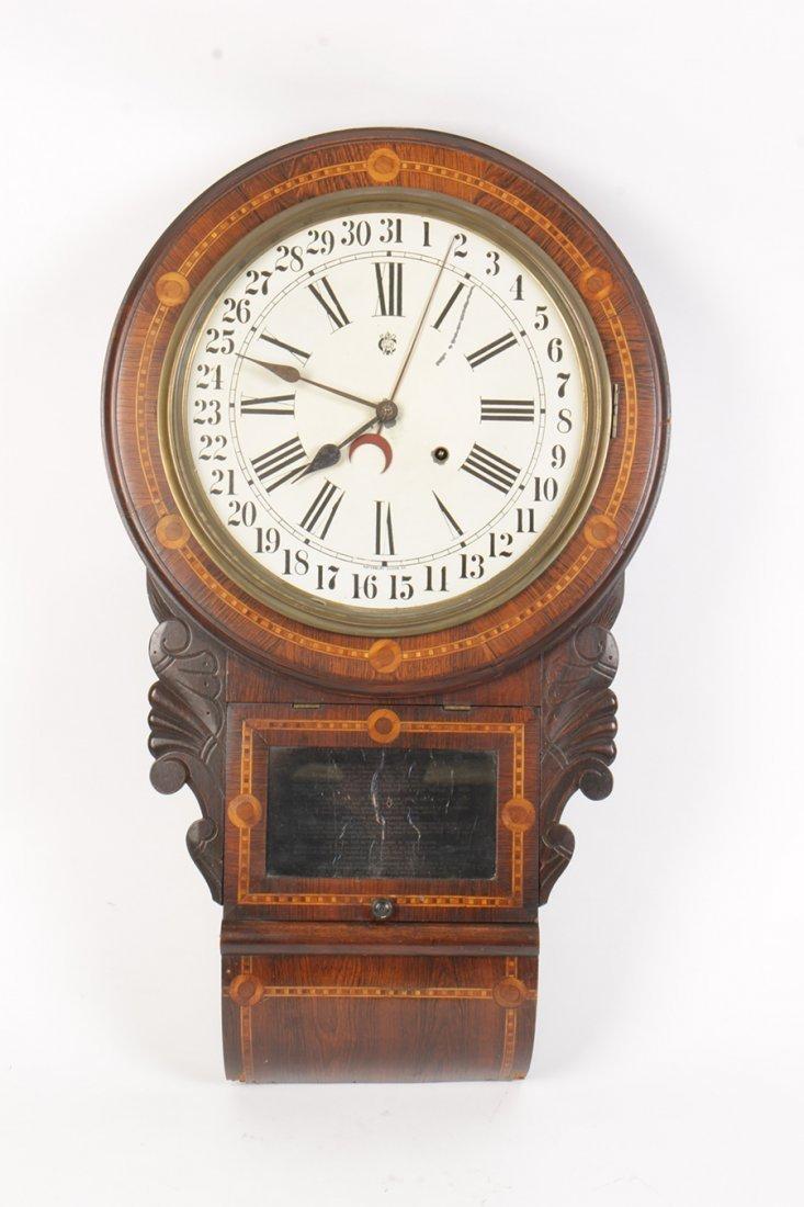 WATERBURY ENGLISH DROP 2 CALENDAR CLOCK 1880