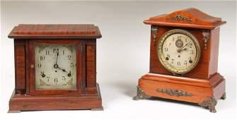 2 SETH THOMAS MANTLE CLOCKS SONORA 1900