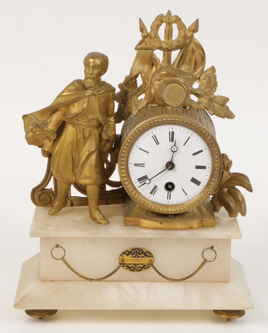 DORE BRONZE 19TH C. FRENCH MANTLE CLOCK MALE