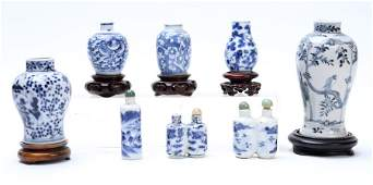 LOT OF 8 19TH C CHINESE EXPORT MINIATURES
