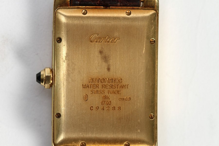 18 K YELLOW GOLD CARTIER TANK AMERICAINE WATCH - 3
