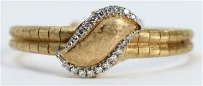 LADIES 14K GOLD DIAMOND LONGINES BRACELET WATCH