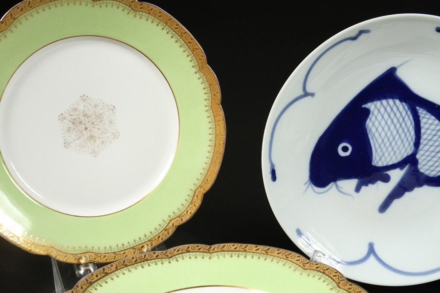 LIMOGE DINNER PLATES & CHINESE DINNERWARE SERVICE - 2