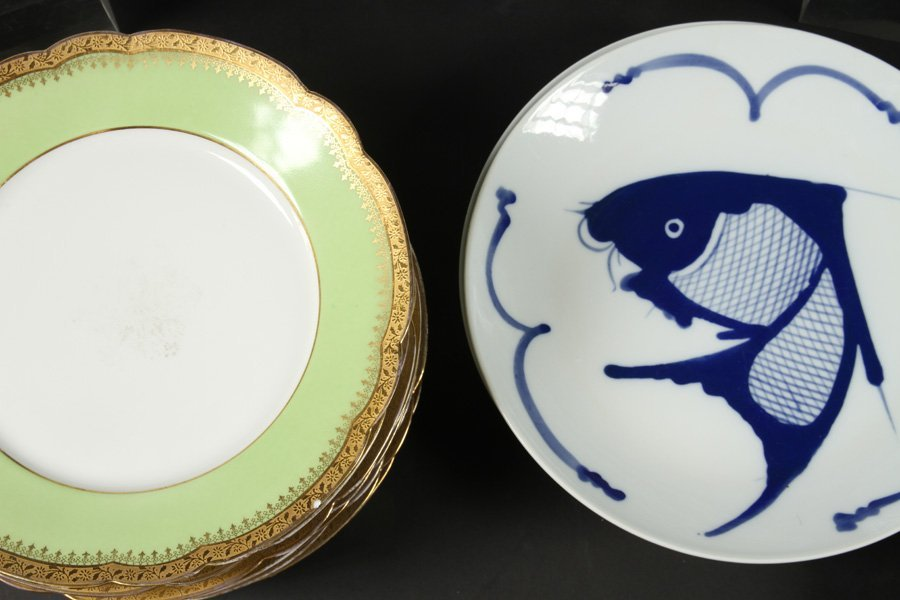 LIMOGE DINNER PLATES & CHINESE DINNERWARE SERVICE - 3
