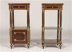PR FRENCH MAHOGANY BRONZE MOUNTED STANDS 1880
