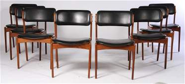8 DANISH O. MASKINSNEDKERI DINING CHAIRS C.1960