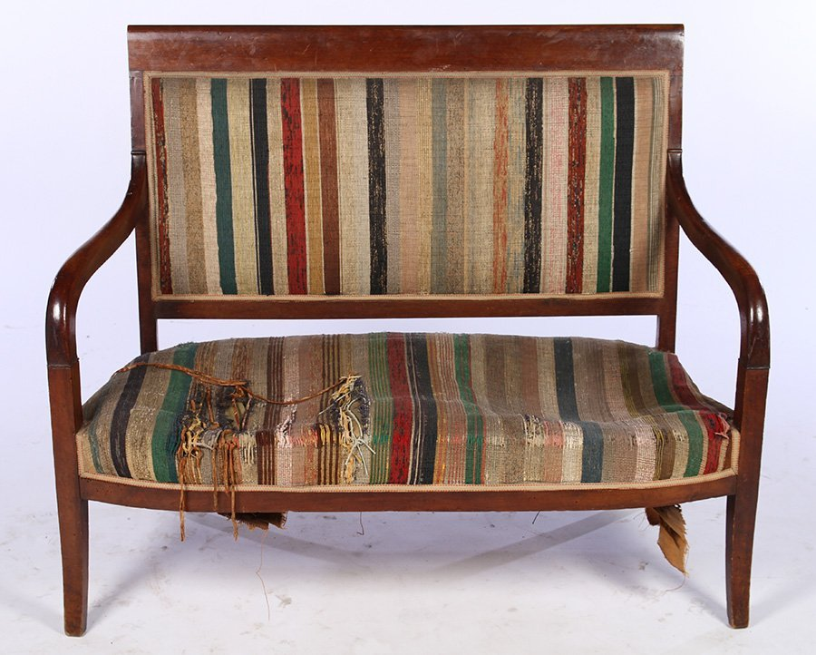 FRENCH RESTORATION STYLE 19TH CENT. SETTEE