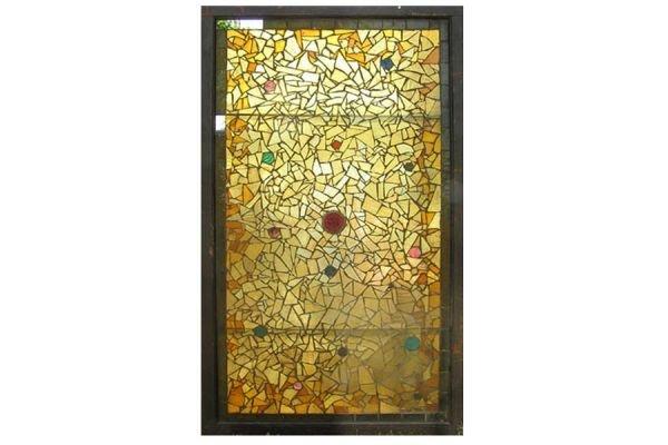 RARE  VICTORIAN AESTHETIC MOVEMENT MOSAIC WINDOW 1/3