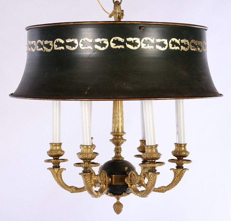 EMPIRE STYLE BRONZE CHANDELIER SIX ARMS